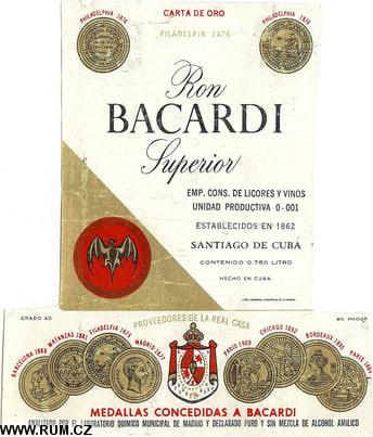 Bacardi Cuba label