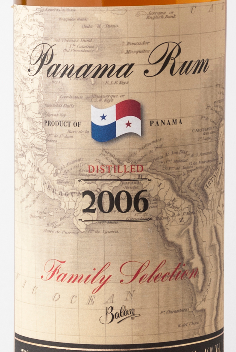 Rum_balan_family_selection_panama_2006_etichetta
